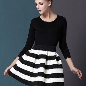 NWOT Black/White Dress